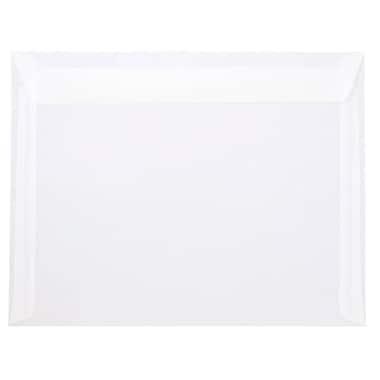JAM Paper® 10 x 13 Booklet Envelopes, Clear Translucent Vellum, 25/Pack (900840420)