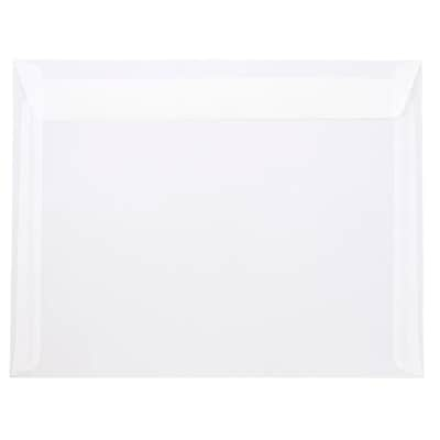 JAM Paper® 10 x 13 Booklet Envelopes, Clear Translucent Vellum, 10/pack (900840420D)