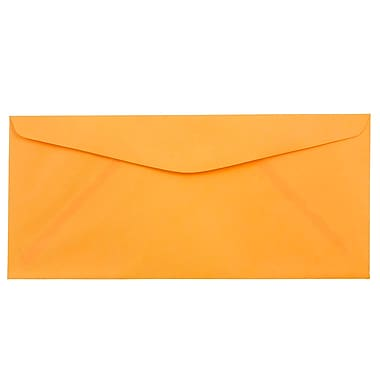 JAM Paper® #10 Business Envelopes, 4 1/8 x 9 1/2, Brite Hue Ultra Orange, 500/box (80401H)