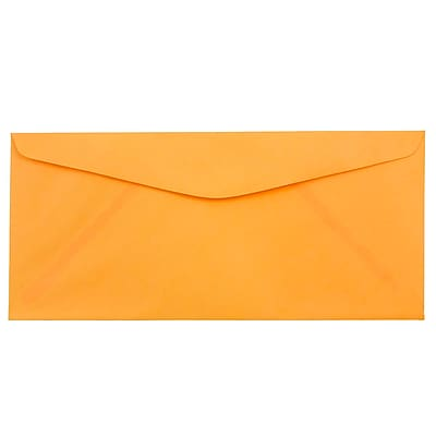 JAM Paper® #10 Business Envelopes, 4 1/8 x 9 1/2, Brite Hue Ultra Orange, 25/pack (80401)