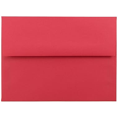 JAM Paper® A6 Invitation Envelopes, 4.75 x 6.5, Brite Hue Red Recycled, 25/pack (67503)