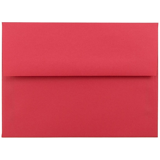 JAM Paper® A6 Colored Invitation Envelopes, 4.75 x 6.5, Red Recycled, Bulk 250/Box (67503H)