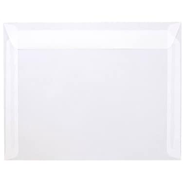 JAM Paper® 9 1/2 x 12 5/8 Booklet Envelopes, Clear Translucent Vellum, 25/Pack (2851377)