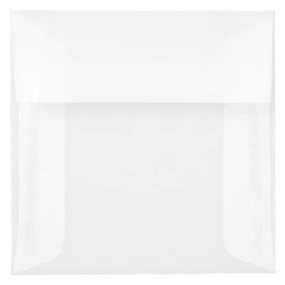 JAM Paper® 5 x 5 Square Envelopes, Clear Translucent Vellum, 25/pack (31032)