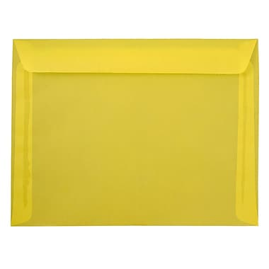 JAM Paper® 9 x 12 Booklet Envelopes, Translucent Vellum Yellow, 25/pack (1592184)