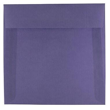 JAM Paper® 6.5 x 6.5 Square Envelopes, Wisteria Purple Translucent Vellum, 25/pack (1592113)