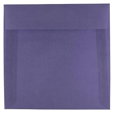 JAM Paper® 6.5 x 6.5 Square Envelopes, Wisteria Purple Translucent Vellum, 250/box (1592113H)