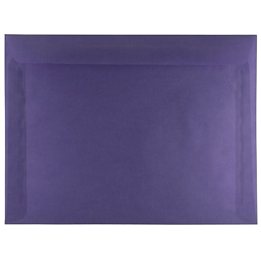 JAM Paper® 9 x 12 Booklet Translucent Vellum Envelopes, Wisteria Purple, 25/Pack (1592177)