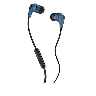 Skullcandy INK'D Earbud Headphones with Mic, Blue/Black