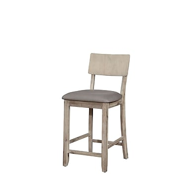 Linon Carol Grey Wash Counter Stool (STCA4326)