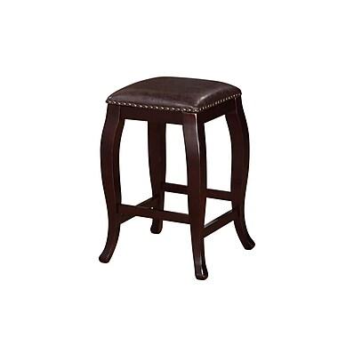 Linon Monroe Backless Square Top Counter Stool