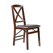 Linon Jack Espresso X Back Folding Chairs, 2/Pack (STCA4208)