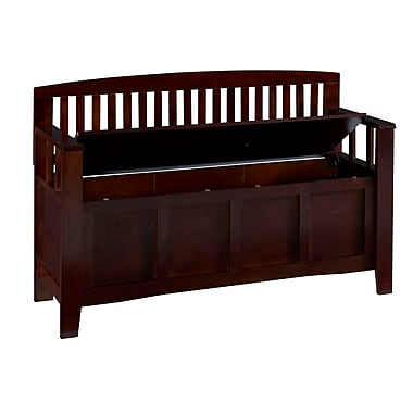 Linon Dallas Walnut Storage Bench (STCA4046)