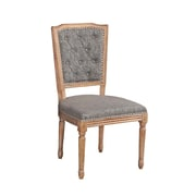 Linon Lindsay Square Tufted Back Chair Set, 2/Pack