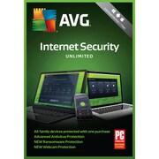 AVG – Logiciel Internet Security 2018, utilisateurs illimités, 1 an