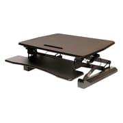 "Seville Classics AIRLIFT 35.4"" Height Adjustable Standing Desk, Metal, Black (OFF65807)"