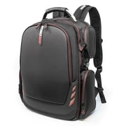 Mobile Edge Core Gaming Backpack, Black with Red Trim, Molded Front Panel (MECGBP1)