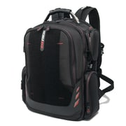 Mobile Edge Core Gaming Backpack, Black with Red Trim, w/Velcro Front Panel (MECGBPV1)