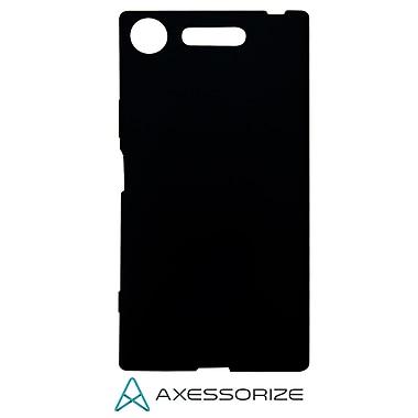 Axessorize – Étui gel et protecteur d'écran en verre trempé pour Sony Xperia XZ1, noir (fils1430)