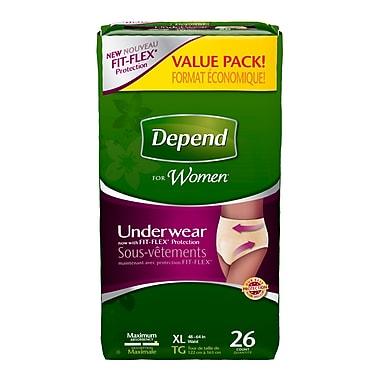 Depend – Sous-vêtements pour femmes, très grand, paq./26
