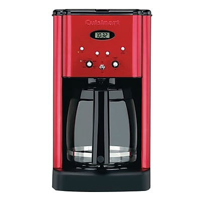Cuisinart Brew Central DCC-1200 12 Cup Programmable Refurbished Coffeemaker, Red IM1VV3102