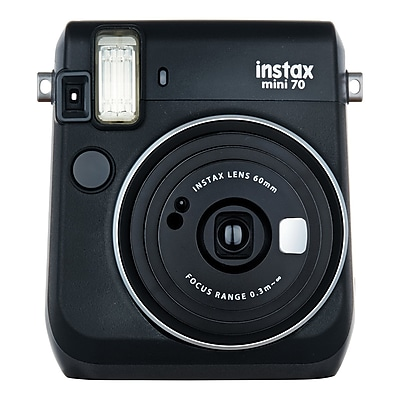 Fujifilm Instax Mini 70 Instant Film Camera with Basic Kit, 60 mm, Midnight Black