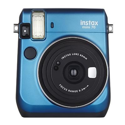 Fujifilm Instax Mini 70 Instant Film Camera with Basic Kit, 60 mm, Island Blue
