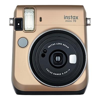 Fujifilm Instax Mini 70 Instant Film Camera with Basic Kit, 60 mm, Stardust Gold