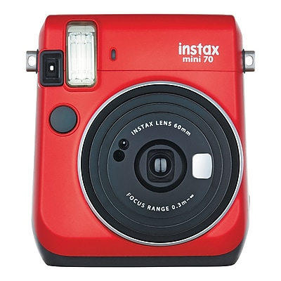 Fujifilm Instax Mini 70 Instant Film Camera with Basic Kit, 60 mm, Passion Red