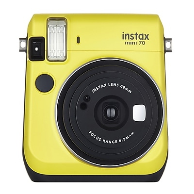 Fujifilm Instax Mini 70 Instant Film Camera with Basic Kit, 60 mm, Canary Yellow