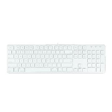 Macally Wired Keyboard, White (SLIMKEYPRO)