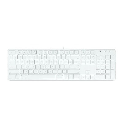 Macally™ Wired USB Keyboard, White (SLIMKEYPRO)