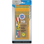 Mega Brands™ USA Gold Pre-Sharpened Pencil, 10 Count, 2HB (CYD19)
