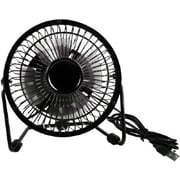 QVS Portable USB Powered Mini Desk Fan, Black (FAN-U1)