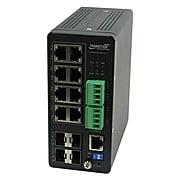 Transition Networks® SISPM1040-384-LRT-C 8 Port Gigabit Ethernet Managed Switch, Black