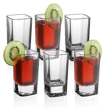 Trudeau - Verres à liqueur Cool Square, 2 oz, 6/paquet