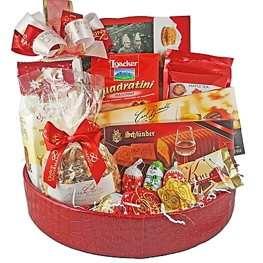 Dolce & Gourmando Red Croc Gift Basket