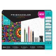 Prismacolor Premier Soft Core Pencils Adult Coloring Book Kit, 29 Pieces