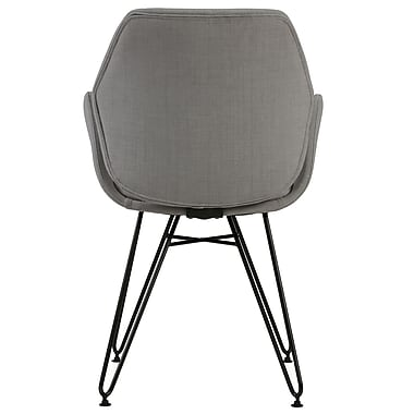 !nspire Modern Fabric/Metal Accent Chair, Grey (403-365GY)