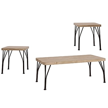 WHI 3-Piece Industrial Style Coffee End Table Set (303-183RK)