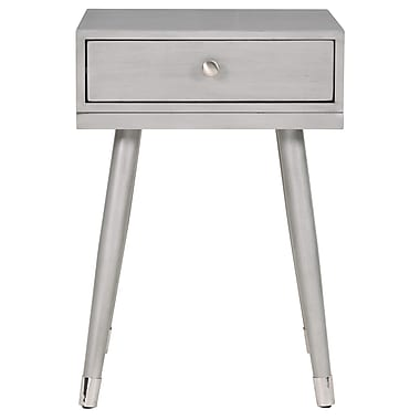 WHI Mid Century Solid Wood Accent Table, Grey (501-198GY)