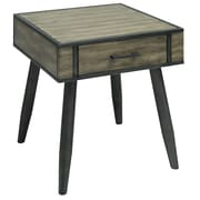 !nspire Rustic Modern Pine Veneer and Metal Accent Table (501-302GY)
