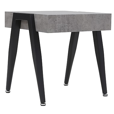 !nspire Faux Cement and Metal Accent Table (501-370CT)