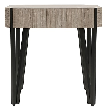 !nspire Faux Oak and Metal Accent Table (501-505RC)