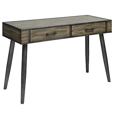 !nspire Rustic Modern Pine Veneer and Metal Console Table (502-302GY)