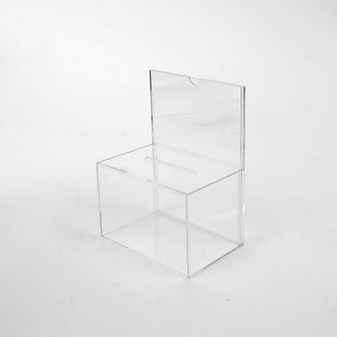 Wamaco Acrylic Ballot Box with Sign Holder (37-1027)