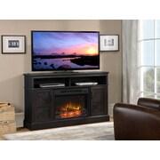 Flamelux Aspen Media Fireplace, Gambrel Weathered Oak
