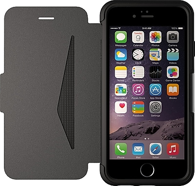 Otterbox Strada Series Leather Wallet Case for iPhone 6 Plus, Black (77-51582)