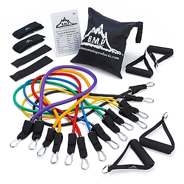 Black Mountain Products Ultimate Resistance Band Set with Starter Guide (BMP 7M)