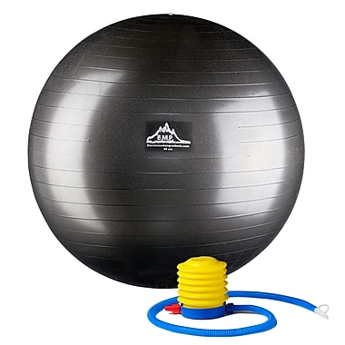 Black Mountain Products Professional Grade 55cm Stability Ball, Black (PSBLK 55CM)